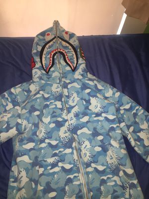 Blue bape hoodie size Large name a price for Sale in Lorain, OH