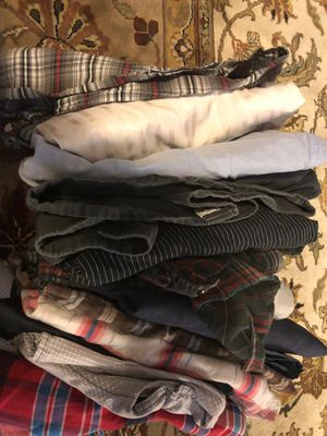 15ea size medium/large button up shirt lot for Sale in Virginia Beach, VA