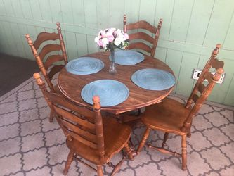 Wood Table With 4 Chairs for Sale in Norwalk,  CA
