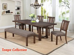 NEW, 6PC Wire Brushed Dining Room SET, SKU# 7802 for Sale in Fountain Valley, CA