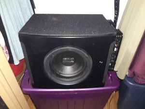Polk audio sub and dual amp for Sale in Forest Lake, MN