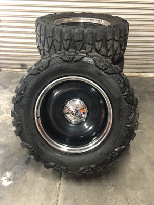 "Mobsteel 6 lug 20"" wheels 35"" tires for Sale in Payson, AZ"