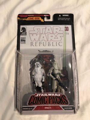 Star Wars Republic action figures Dark Horse comic packs for Sale in El Cajon, CA