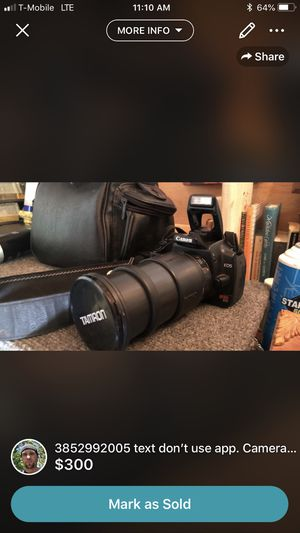 Cannon camera and lens for Sale in Murray, UT