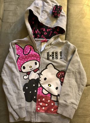 Hello Kitty & My Melody Gray Hoodie Jacket -Size Girls Small (~sz 6) for Sale in Coral Springs, FL