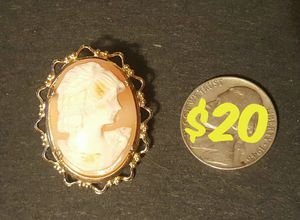 Large Cameo Brooch in Good Condition - Shelbyville pick up - $20 firm for Sale in Shelbyville, TN