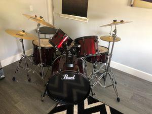 Pearl 5 piece drum set .. excellent shape! for Sale in Irvine, CA