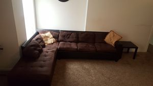 Sectional sofa brown color , Non smokers and No pets. for Sale in Dallas, TX