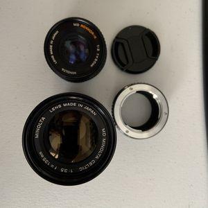 Minolta Lenses with Sony E Mount Adapter for Sale in Ocean Ridge, FL