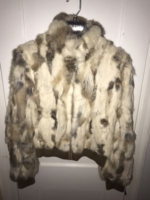 Wilson's leather rabbit fur coat for Sale, used for sale  Croydon, PA