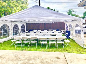 Party tents Clean chairs and tables for Sale in Duncanville, TX