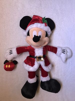 Mickey Mouse Santa with disney bear ornament plush toy for Sale in Gainesville, FL