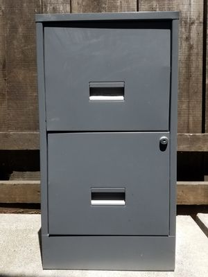 File Cabinet - 2 Drawer, Letter Size, Grey Color for Sale in Martinez, CA