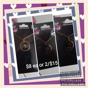New nfl necklaces for Sale in Fresno, CA