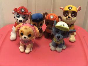 Paw patrol plush stuffed animals for Sale in Virginia Beach, VA