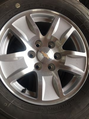 """17"""" Chevy stock wheels Michelin tires for Sale in Dinuba, CA"""