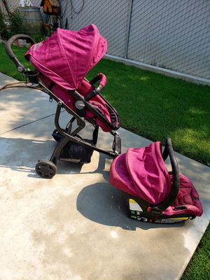 Urbini stroller and car seat with base for Sale in Reedley, CA