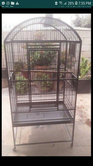 "BEAUTIFUL LARGE BIRD CAGE 63""H×32""W×23""L SELLING IT CAUSE MY BIRD FLEW AWAY for Sale in Santa Ana, CA"