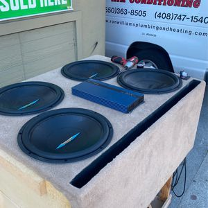 Subwoofers With Box Car Audio Amplifiers for Sale in Richmond, CA