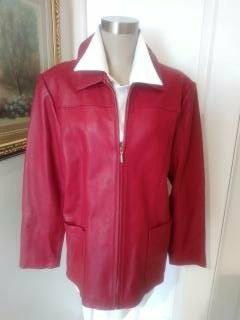 Beautiful Cranberry Lambskin Leather Jacket for Sale in Hawthorne, CA