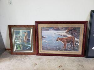 Framed cougar prints for Sale in Bonney Lake, WA