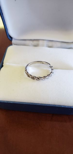 925 Sterling Silver, Cubic Zirconia Stones, Wedding Band/Promise Ring Size 4, 4.5, 5, 6, 6.5, 7, 8 & 9.5 for Sale in Portland, OR