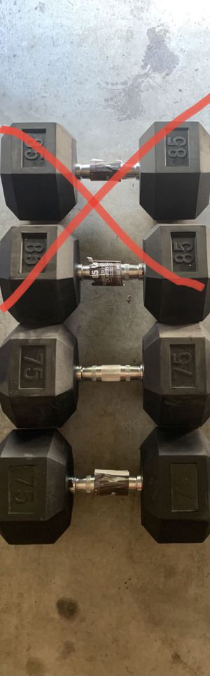 Weider 75lbs Dumbbells BRAND NEW Bench Press for Sale in Las Vegas, NV