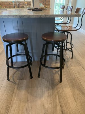 Counter top stools. Can be purchased as set of 5 or 2 small together and 3 tall together. for Sale in Miami, FL