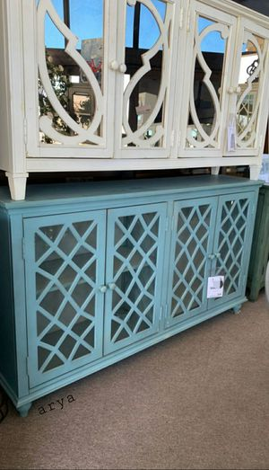 📣Black Friday Sale~In stock🔅In stock Mirimyn Antique Teal accent Cabinet Gray Cabinet 549 $ for Sale in Laurel, MD