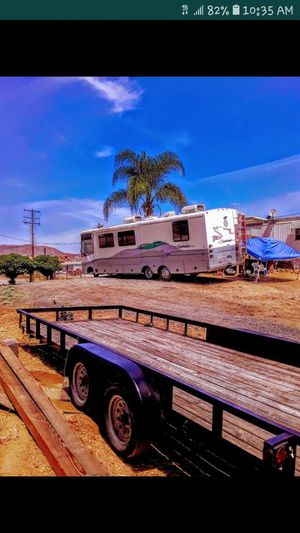 2006 Carson trailer 20 x 8 great name brand ready for work or play for Sale in Perris, CA