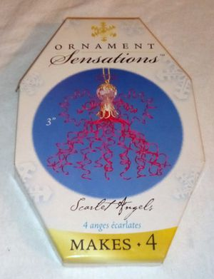 New SCARLET ANGELS WIRE Craft Kits - Makes 4 Angels - Red, Gold, Clear Wire & Beads for Sale in Largo, FL
