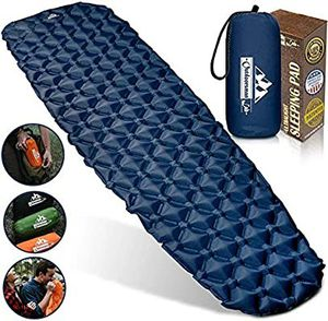 Sleeping Pad for Camping - Patented Camp Mat, Ultralight (14.5 Oz) - Best Compact Inflatable Air Mattress for Adults & Kids - Lightweight Hiking, for Sale in Torrance, CA