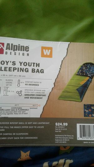 Boys youth sleeping bag. Brand new . Never used for Sale in Randolph, MA