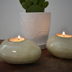 Set of 2 Stone Candle Holders for Sale in Arvada, CO