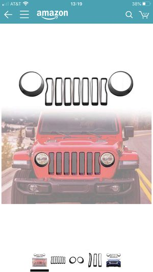 Front grille inserts headlight cover trim accessories for Jeep Wrangler JL 2018 for Sale in San Leandro, CA
