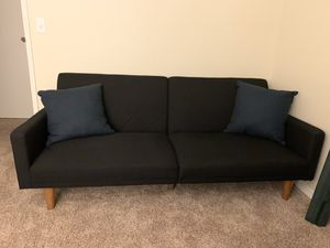Black futon couch for Sale in Federal Way, WA