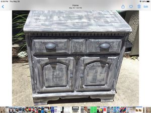 Grey distressed cabinet console entry table for Sale in Lakeway, TX