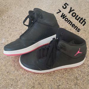 5 Youth 7 Womens Nike Jordan's Black & Hot Pink for Sale in Huntington Beach, CA