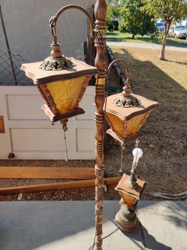 6 piece working Retro vintage lamp set