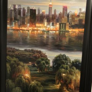NYC At Night - Painting for Sale in Atlanta, GA
