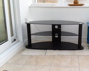 Tempered glass Tv stand (3 shelf space) for Sale in Takoma Park, MD