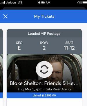 Blake Shelton Tix for Sale in Peoria, AZ