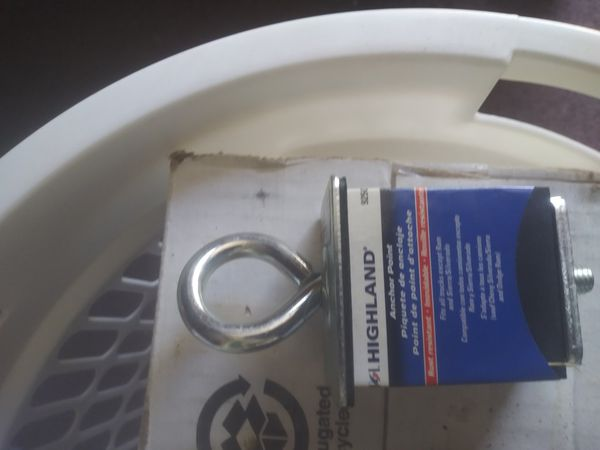 Anchors for camper shell