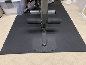 "Elephant Bark Rubberized Flooring Sport Gym 3/8"" All Black 1 Roll 4ft x 6ft MSRP $200 for Sale in Dearborn Heights, MI"