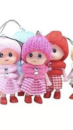 6PCS Tiny dolls silicone princess mini doll for girls,Bag accessories,Length 8CM for Sale in Melville,  NY