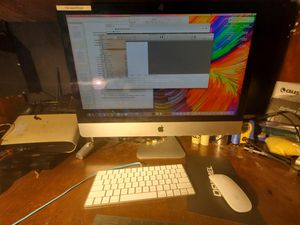 iMac 27-in 5k retina vision with wireless mouse and keyboard and one terabyte external drive for Sale in Chula Vista, CA
