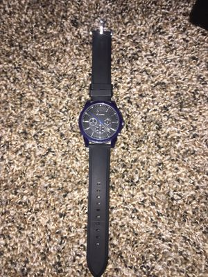 A|X Armani Exchange Men's Chronograph Outer Banks Blue Silicone Strap Watch 44mm for Sale in Alexandria, VA