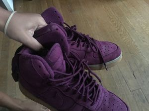 Nike Air Force 1 High - Boys Grade School Shoes Bordeaux Size 7 for Sale in Chevy Chase, MD