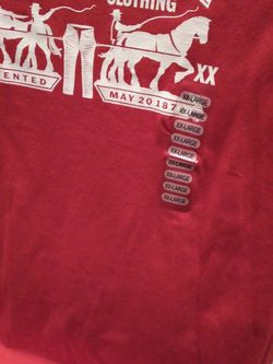 Mens Levi Red Tee Shirt for Sale in College Park,  GA