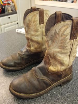 JUSTIN STAMPEDE WORK BOOTS WK- 4660 SOFT TOE for Sale in Greensboro, NC